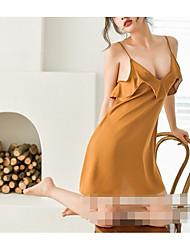 cheap -Women's Gartered Lingerie Nightwear - Backless Solid Colored