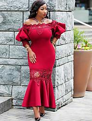 d75f45dc959c kvinnans knälängdsklänning klänning rosa röd svart l xl xxl