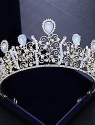 Χαμηλού Κόστους -Κράμα Τιάρες με Τεχνητό διαμάντι 1 Τεμάχιο Γάμου / Γενέθλια Headpiece