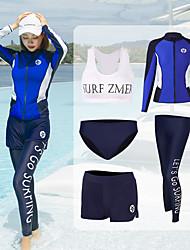 halpa -JIAAO Naisten Skin-tyyppinen märkäpuku Sukelluspuvut UV-aurinkosuojaus Lyhythihainen Uinti Patchwork Kesä / Erittäin elastinen