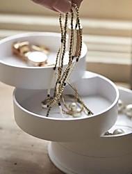 billige -opbevaring organisation smykker samling plast / træ runde bakke / flerlags / kreative