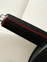 Недорогие -универсально черный красный автомобиль авто переключение передач ручник ручной тормоз крышка сетки кожаная одежда чехол