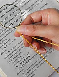 Недорогие -Колье декоративное монокль с увеличительным стеклом 6x кулон золотое посеребренное ожерелье для женщин ювелирные изделия