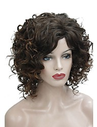 cheap -Synthetic Wig Curly Style Side Part Capless Wig Brown Brown Synthetic Hair 14 inch Women's Synthetic Brown Wig Medium Length Natural Wigs
