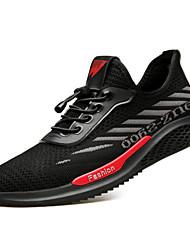 baratos -Homens Sapatos Confortáveis Tissage Volant Primavera Tênis Corrida Preto