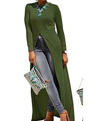 Недорогие -Жен. Тонкие С летящей юбкой Рубашка Платье Макси