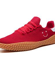رخيصةأون -رجالي أحذية الراحة شبكة للربيع والصيف رياضي / كلاسيكي أحذية رياضية الركض متنفس مخطط أبيض / أسود / أحمر