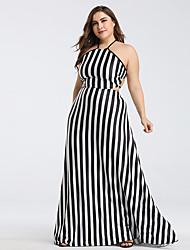preiswerte -A-Linie Spaghetti-Träger Boden-Länge Chiffon Kleid mit durch LAN TING Express
