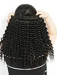baratos -3 pacotes Cabelo Brasileiro Onda Profunda Cabelo Natural Remy Peça para Cabeça Cabelo Humano Ondulado Extensor 8-28 polegada Côr Natural Tramas de cabelo humano Macio Fashion Grossa Extensões de
