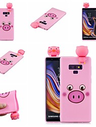 halpa -Etui Käyttötarkoitus Samsung Galaxy Note 9 / Note 8 Kuvio Takakuori Eläin / Piirretty Pehmeä TPU varten Note 9 / Note 8
