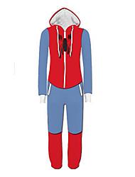 preiswerte -Superheld Cosplay Kostüme Erwachsene Herrn Cosplay Halloween Halloween Karneval Maskerade Fest / Feiertage Polyester Schwarz / Blau Karneval Kostüme Patchwork