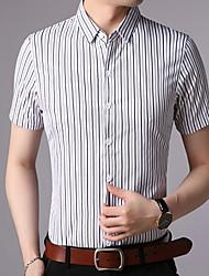 cheap -Men's Shirt - Striped Red XL