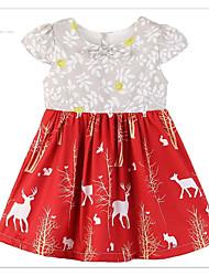 זול -שמלה פרחוני בנות פעוטות