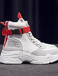 abordables -Mujer Zapatos de hip hop y baile callejero PU / Sintéticos Zapatilla Tacón Plano Zapatos de baile Blanco / Negro