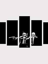 Недорогие -С картинкой Роликовые холсты Отпечатки на холсте - Люди фантазия Винтаж Modern 5 панелей Репродукции