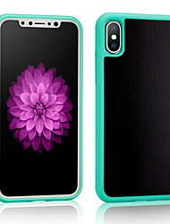cheap -Case For Apple iPhone X / iPhone 8 Shockproof Back Cover Solid Colored Soft TPU for iPhone X / iPhone 8 Plus / iPhone 8