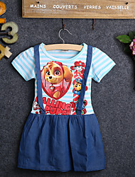 お買い得  -子供 女の子 カートゥン ドレス ブルー