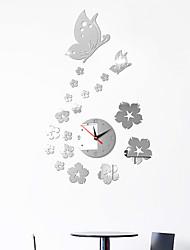 billige -diy vegg klokke europeisk plast akryl rundt innendørs