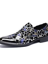 tanie -Męskie Nowoczesne buty Skóra nappa Wiosna / Jesień i zima Casual / W stylu brytyjskim Mokasyny i buty wsuwane Antypoślizgowe Gradient Czarny / Impreza / bankiet