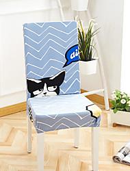 levne -Potah na židli Květinový / Tisk / Současné Barvená příze / S potiskem Polyester potahy
