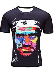 billige -Herre - Portræt T-shirt Sort XXL