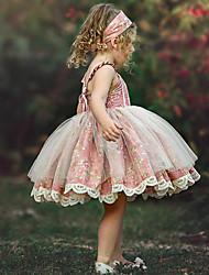 お買い得  -子供 / 幼児 女の子 フラワー ドレス ピンク