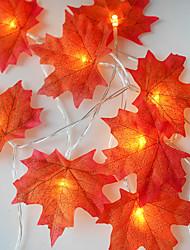 Недорогие -1 компл. 20 светодиодов строка светло-красный кленовый лист реквизит кленовый лист ночной свет благодарения праздник украшения дома usb