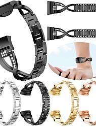 رخيصةأون -حزام إلى Fitbit Charge 3 فيتبيت تصميم المجوهرات ستانلس ستيل شريط المعصم