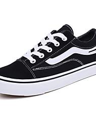 tanie -Męskie Komfortowe buty Płótno Wiosna Adidasy Biały / Czarny / Czerwony