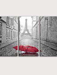 Недорогие -С картинкой Роликовые холсты Отпечатки на холсте - Пейзаж Транспорт Modern 3 панели Репродукции