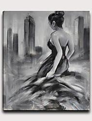 halpa -Painettu Pingoitetut kanvasprintit - Ihmiset Moderni Moderni