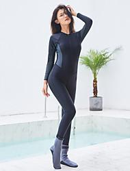 halpa -JIAAO Naisten Skin-tyyppinen märkäpuku Sukelluspuvut UV-aurinkosuojaus Tuulenkestävä Pitkähihainen Etuvetoketju - Uinti Sukellus Yhtenäinen Syksy Kevät Kesä / Elastinen