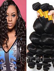 Недорогие -4 Связки Бразильские волосы Свободные волны Натуральные волосы 100% Remy Hair Weave Bundles Человека ткет Волосы Удлинитель Пучок волос 8-28 дюймовый Естественный цвет Ткет человеческих волос