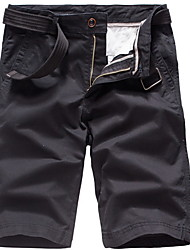cheap -Men's Basic Shorts Pants - Solid Colored Black