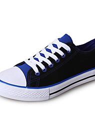 abordables -Mujer Tela Verano Zapatillas de deporte Tacón Plano Negro / Negro / Rojo / Negro / azul