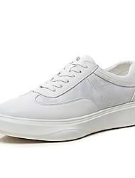 levne -Pánské Komfortní boty mikrovlákno Jaro Tenisky Bílá / Černá