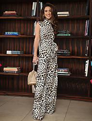 Недорогие -Жен. Черный Широкие Комбинезоны, Леопард M L XL