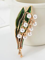 povoljno -Žene Klasičan Broševi Botanički Crtići slatko Moda folk stil Broš Jewelry Zlato Pink Za diplomiranje Dar Dnevno Karneval Festival
