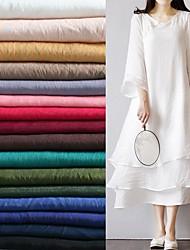 baratos -Algodão Cor Única Inelástico 150 cm largura tecido para Camisa vendido pelo 0,45 m