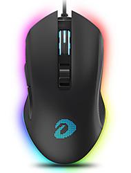 levne -dareu em905 drátové usb optická herní myš rgb dechové světlo 6000 dpi 5 nastavitelných dpi úrovně 6 ks klíče