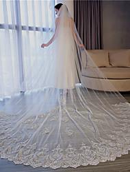 Недорогие -Один слой Формальный / Роскошь Свадебные вуали Фата для венчания с Аппликации 137,8 в (350cm) Тюль