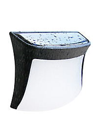 billige -2pcs 0.3 W Solar Wall Light Vanntett / Solar Varm hvit / Hvit 1.2 V Utendørsbelysning / Courtyard / Have 3 LED perler
