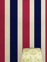 Χαμηλού Κόστους -ταπετσαρία 120γρ / τμ Πολυεστέρας Ελαστικό Πλεκτό Κάλυψης τοίχων - κόλλα που απαιτείται Ριγέ