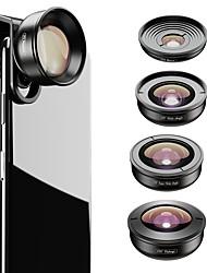 Недорогие -Объектив для мобильного телефона Объектив фиш-ай / Длиннофокусный объектив / Широкоугольный объектив стекло / Алюминиевый сплав 2X 37 mm 0.01 m 195 ° Новый дизайн / Cool