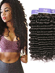 cheap -3 Bundles Malaysian Hair Wavy Deep Wave Virgin Human Hair 100% Remy Hair Weave Bundles Natural Color Hair Weaves / Hair Bulk Bundle Hair Human Hair Extensions 8-28 inch Natural Human Hair Weaves