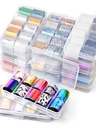 voordelige -1 pcs Stickers Bloemen Series / Romantische serie Nagel kunst Manicure pedicure Klassiek Stijlvol / Artistiek Feest / Uitgaan / Dagelijks