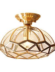 رخيصةأون -JSGYlights أضواء على السقف ضوء محيط النحاس نحاس زجاج تصميم جديد 110-120V / 220-240V