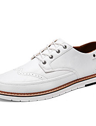 رخيصةأون -رجالي أحذية الراحة PU الصيف أوكسفورد أسود / بني / سكني فاتح