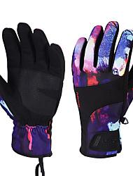 Недорогие -Лыжные перчатки Муж. Жен. Снежные виды спорта Полный палец Зима С начесом Снежные виды спорта Зимние виды спорта