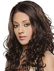 cheap -Synthetic Wig Curly / Wavy Style Middle Part Capless Wig Brown Brown / Burgundy Synthetic Hair 26 inch Women's Fashionable Design / Women / Synthetic Brown Wig Long Natural Wigs